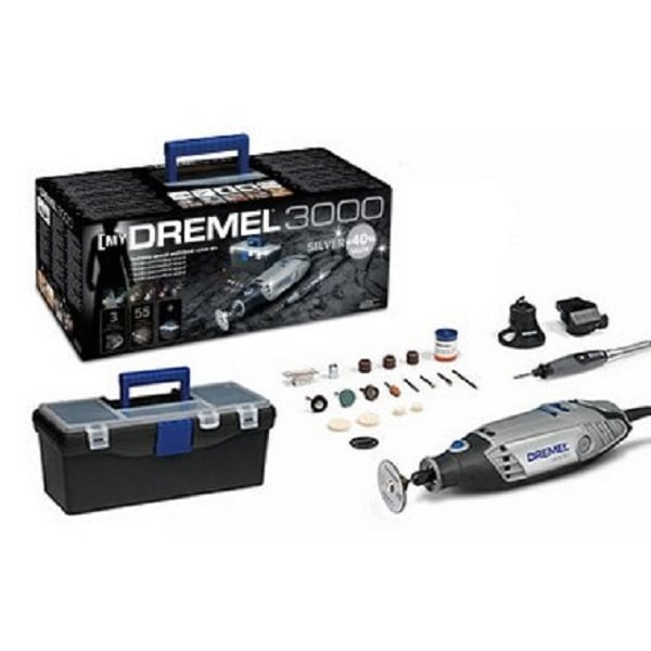 dremel 3000 3 55 with 3 attachments 55 accessories silver multi tool kit f0133000lr dremel. Black Bedroom Furniture Sets. Home Design Ideas