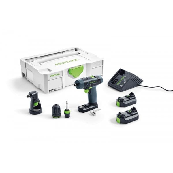 Festool TXS 3 in 1 Cordless 10.8v Drill Set with 2 x 2.6Ah Batteries