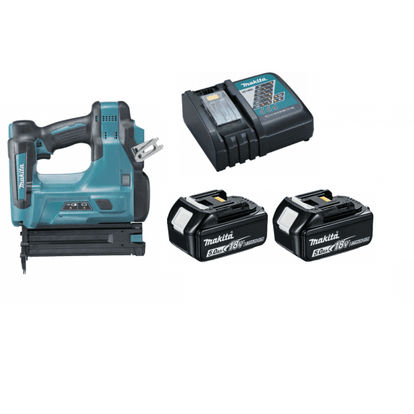 Makita DBN500RTJ 18v Brad Nailer With 2 x BL1850, Charger and Makpac