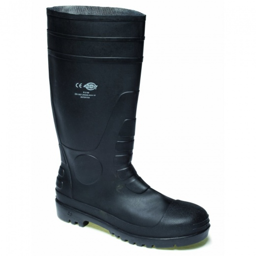 Dickies Safety Welly Black Safety Wellington
