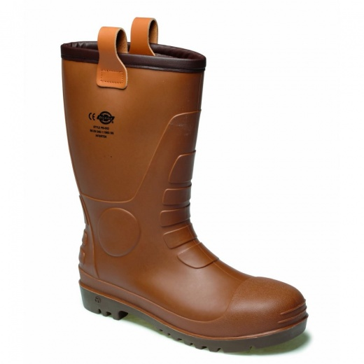 Dickies Groundwater Super Safety Boot Brown FW13200