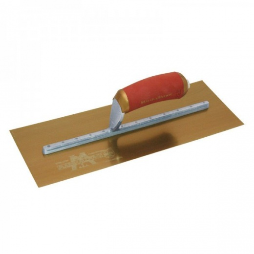 Marshalltown MPB165GSD Permashape Finishing Trowel with Gold S/S Blade