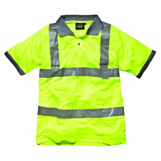 Dickies Hi Visibility Safety Polo Shirt Saturn Yellow
