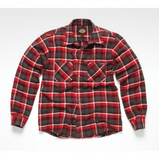 Dickies Flannel Check Shirt Red XL