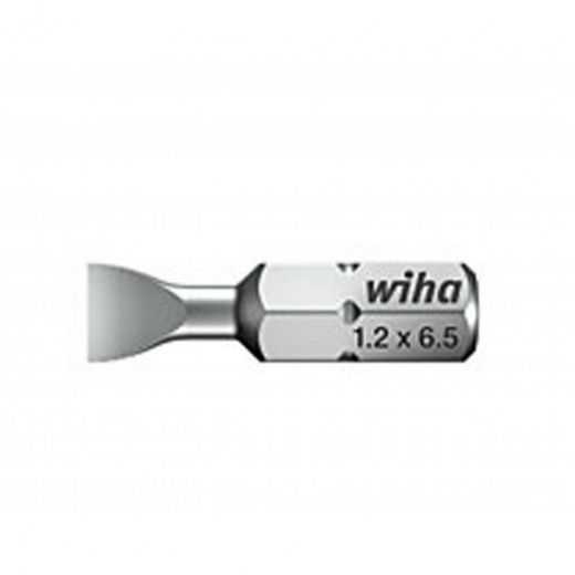 Wiha Standard Screwdriver Slotted Bit, Style C6.3 25mm long