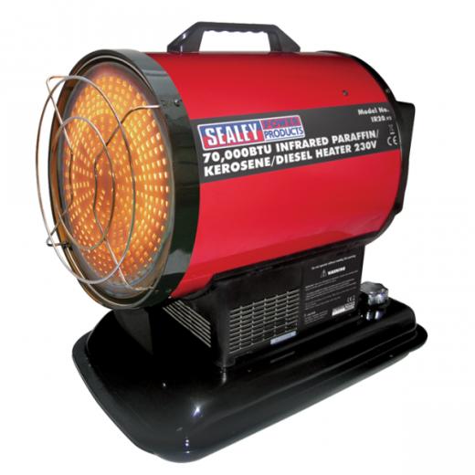 Sealey IR20 Infrared Heater 20kw 70,000 Btu/hr