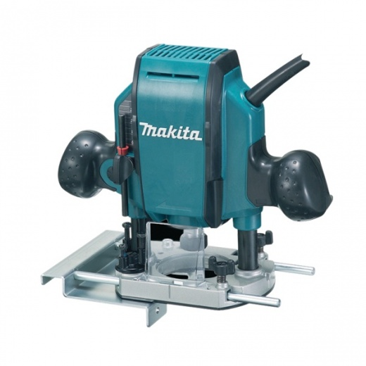 "Makita RP0900X 1/4"" Or 3/8"" Plunge Router 110v or 240v In Carry Case"
