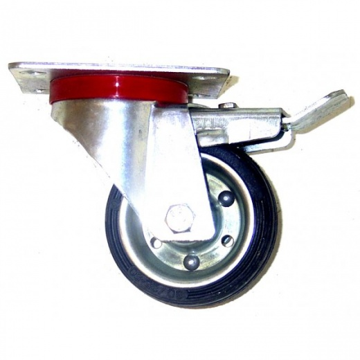 Farmpower 125mm Swivel & Brake Castor Wheel 90kg 3523