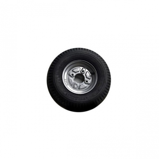 "Farmpower Tyre and rim (IMP)500-10PR H/S 4 stud /4"" silver rim"