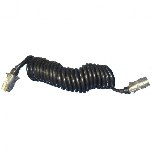 Farmpower Cable Trailer Extension Male/Male 7 Pin Curly 3028