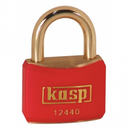 Kasp k12540blad Black Coloured Brass Padlock