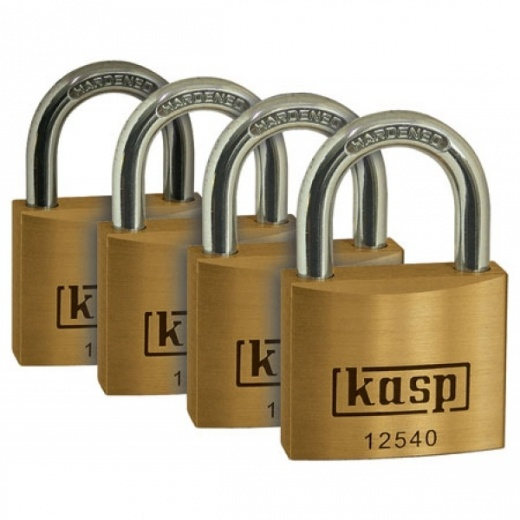 Kasp k12540d4 keyed alike 4p padlock set