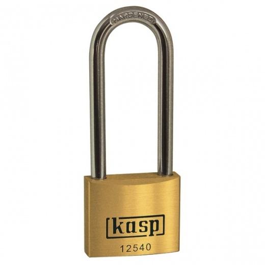 Kasp K12540L40D Brass Padlock long Shackle