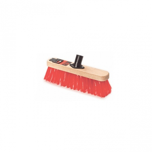 Cottam Brush 12 inch red pvc broom with socket