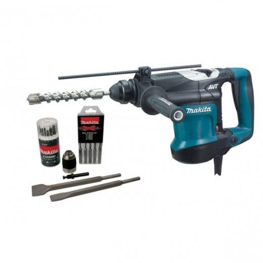 Makita S-MAK32C HR3210C SDS AVT Rotary Hammer Drill 110v and 240v + Accesories kit