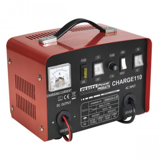 Sealey CHARGE 110 battery charger 230v 14amp 12/24v