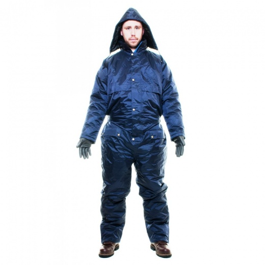 Guardsman Winter Lined Padded Coverall Rainsuit Navy