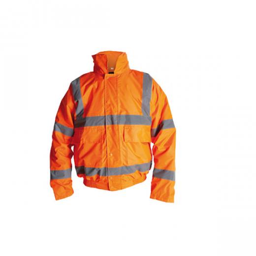 Briggs Industrial HV110R Orange Hi Vis Bomber Jacket