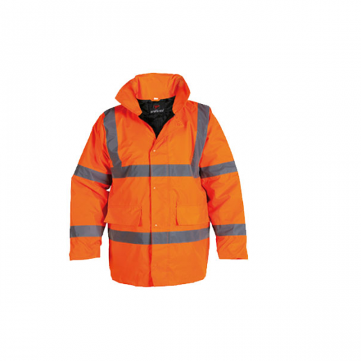 Briggs Industrial HV100R Orange Hi Vis Jacket