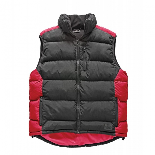 Dickies BW7004 Red/Black Crayford Gilet
