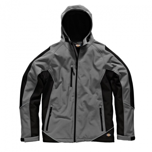 Dickies JW7010 Two Tone Softshell Jacket Grey & Black
