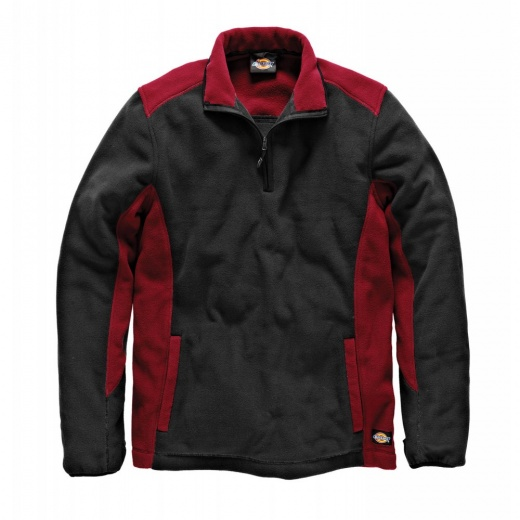 Dickies JW7011 Two Tone Micro Fleece Red & Black
