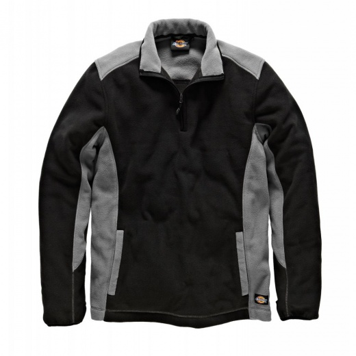 Dickies JW7011 Two Tone Micro Fleece Grey & Black