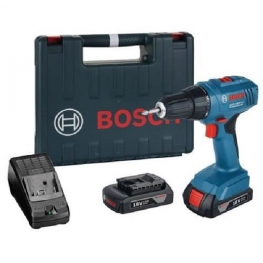 Bosch GSR1800-LI 18 Volt Cordless Drill Driver with 2 x 1.5 amp Batteries in carry case