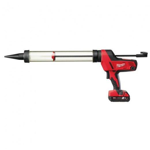 Milwaukee C18PCG600A 18v Caulking Gun 600ml Aluminium Tube 1 x 2.0ah Battery