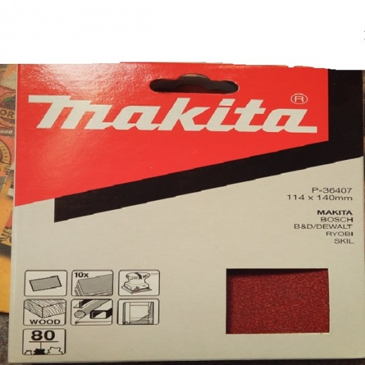 Makita Sanding sheets for BO4556 Palm sander 114x140mm pk10