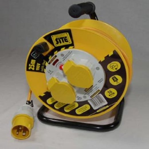Electro-wind 110 Volt Cable Reel c/w 2 x 16amp sockets