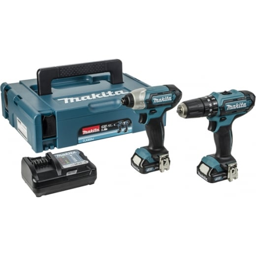 Makita 10.8v Twin Pack CLX202AJ CXT 2 Piece Kit With Combi Drill & Impact Driver