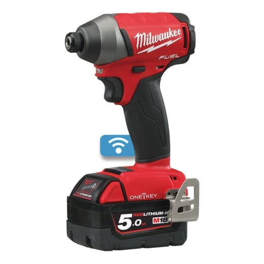 Milwaukee M18ONEID-502X 18V Impact Driver One Key Complete With 2 Batteries + Charger + Case