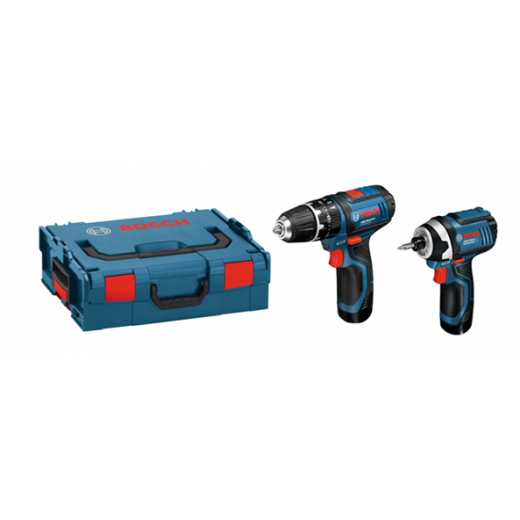 bosch 12v twin pack drill impact driver set 2 x batteries l boxx 06019b697f bosch. Black Bedroom Furniture Sets. Home Design Ideas