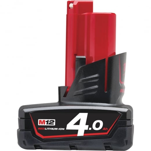 Milwaukee 12v Battery M12B4 4.0Ah Red lithium-ion battery