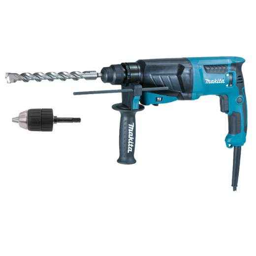 Makita HR2630X7 SDS+ Rotary Hammer Drill with chuck + Adapter