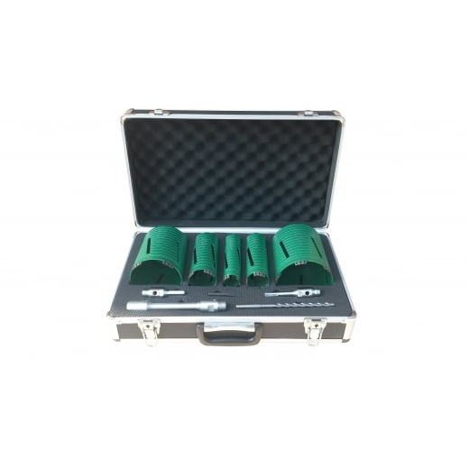 Premier DC12864 10 Piece Dry Diamond Core Set Complete With Carry Case