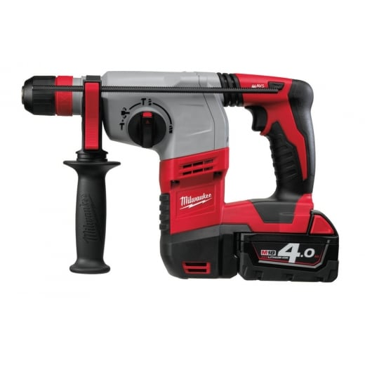 Milwaukee HD18HX-402C 18v Cordless Sds Rotary Hammer Drill 3 Mode 2 x 4.0ah Batteries, Charger + Case