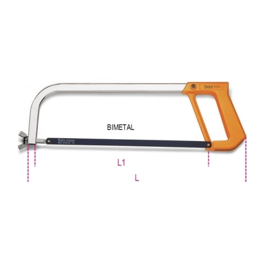 Beta Tools 1725 420mm Bi-metal Hacksaw Frame
