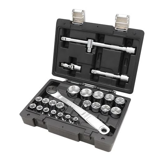"Beta Tools 923E/C25 25 Sockets & 1/2"" Drive Reversible Ratchet."