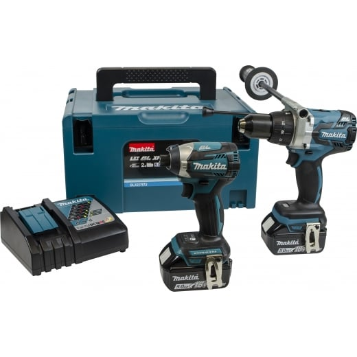 Makita DLX2176TJ 18v Brushless Twin Pack DHP481 Combi Drill & DTD154 Impact Driver
