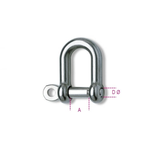 8225 Stainless Steel Straight Shackles