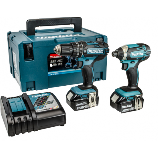 Makita DLX2131 18v Twin Pack Drill & Impact Driver Set 2 x 3.0ah Batteries Charger + Makpac