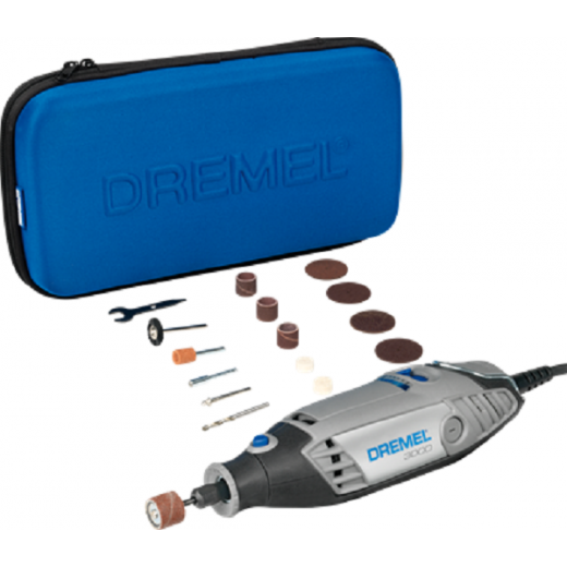 Dremel 3000/15 Multi Tool With 15 Accessories and Free SC690 Set F0133000KM