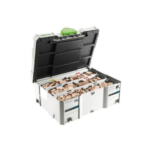 Festool 498899 Beechwood Domino Assortment Set DS 4/5/6/8/10 1060x BU