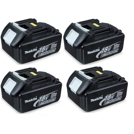 Makita BL1830 18v 3.0ah Li-on Battery Pack Of 4