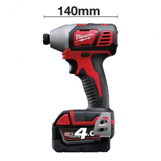 Milwaukee M18BID-402C 18V Impact Driver 2 x 4.0amp Batteries Charger + Case