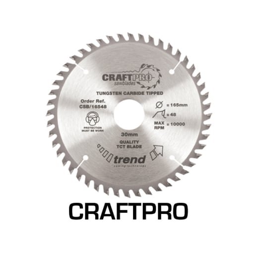 Trend CSB/16548 Craft Pro Saw Blade 165MM X 48T X 30MM