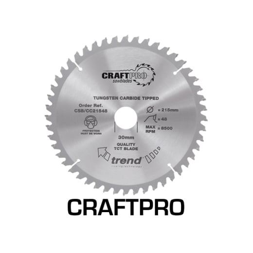 Trend CSB/CC25042 Craft Pro Crosscut Saw Blade 250mm x 42T x 30mm