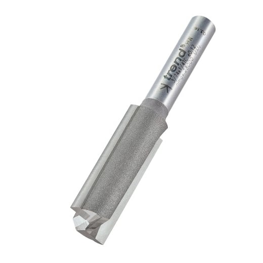 Trend 3/74x1/4TC Professional Two Flute Cutter 12mm Diameter